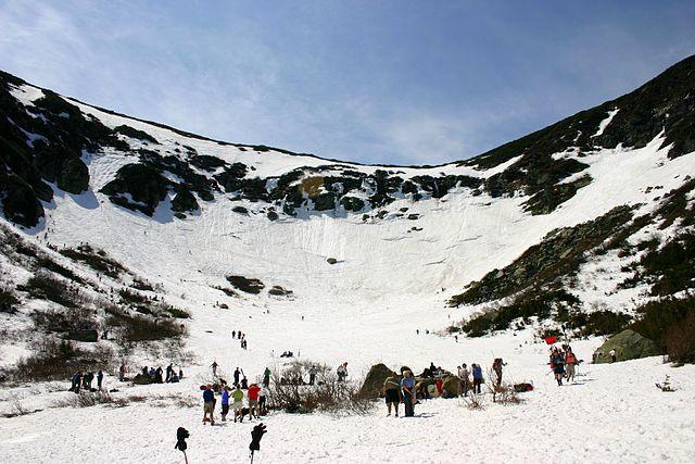 Circque shaped ski area